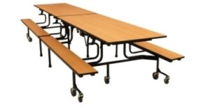 Cafeteria Table - Bench